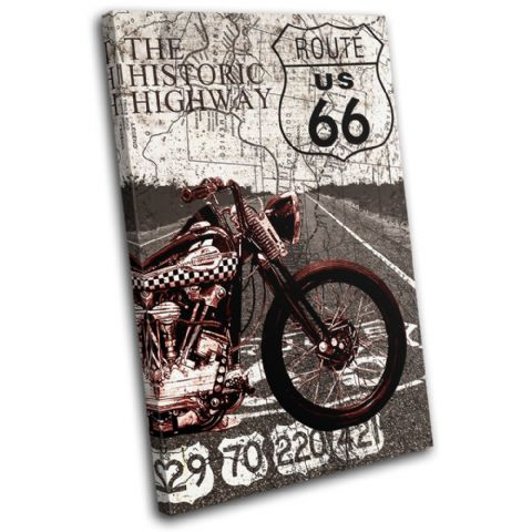 Route 66 Vintage Collage Vintage - 13-6011(00B)-SG32-PO